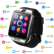 Q18 With Camera Facebook Whatsapp Twitter Sync SMS Smartwatch Support SIM TF Card For IOS Android GEJIAN Bluetooth Smart Watch(China)