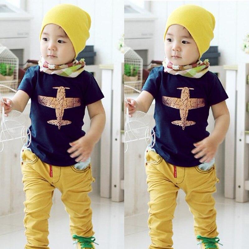 Baby Boy Cloth Summer T Shirt Kids Short Sleeve T-shirt Tops Toddler Boys Summer Clothes ...
