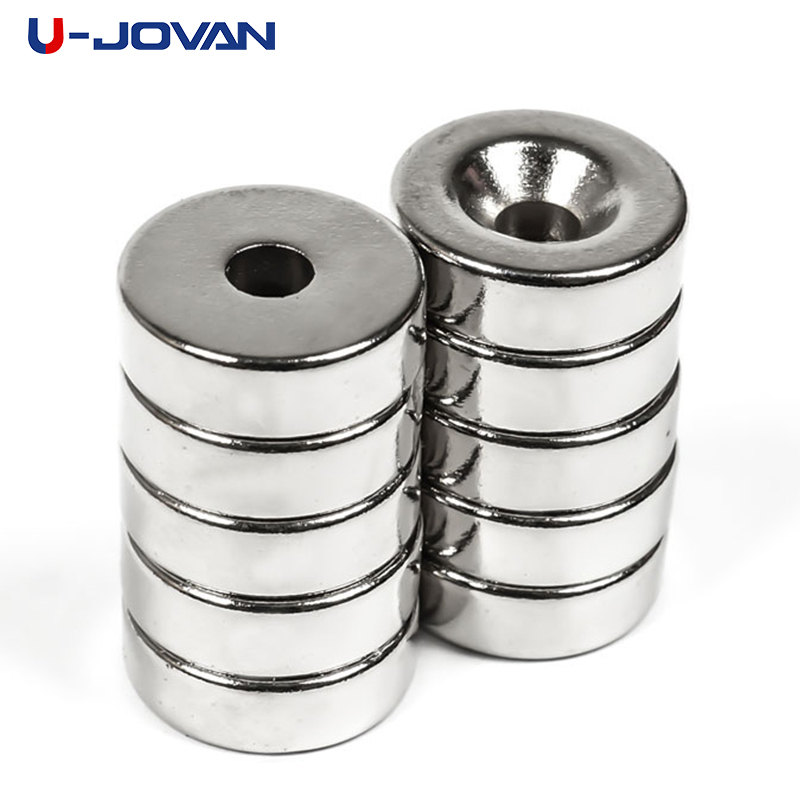 10pcs Super Strong Round Ring Magnet 12mm x 5mm Hole 4mm Earth Neodymium Magne