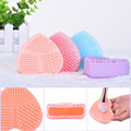 1 piece Silicone Makeup Washing Brushes Multi Texture Surface Heart Shaped Make Up Brush Cleaning Tool Drop Shipping