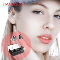 TWS Mini buletooth Wireless V4.1 earphone Smallest Earbud Super portable headset for Android PC YZ147