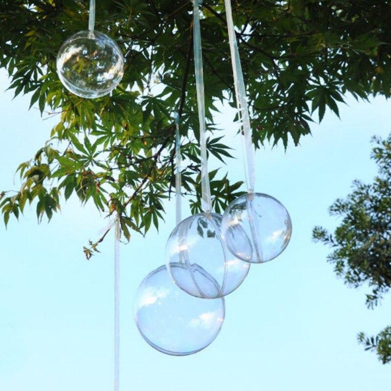 5PCS Transparent Storage Box Hanging Holiday Heart Round Decor Gift Diameter Wedding Decoration Decorative