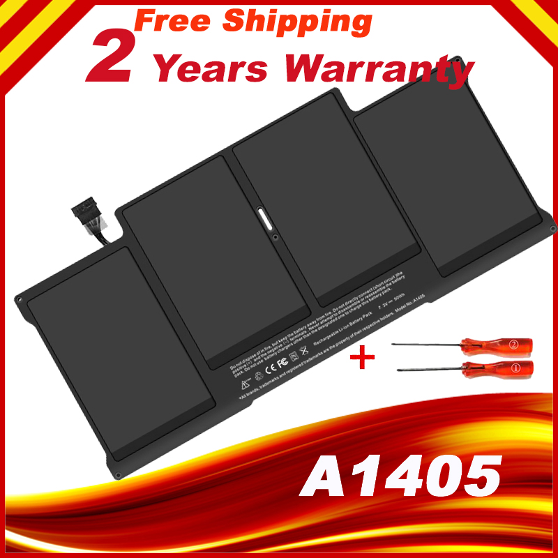 NEW A1405 Battery For Apple MacBook Air 13 Model A1466 Mid 2012 020-7379-A with two screwdrivers hsw rechargeable battery for apple for macbook air core i5 1 6 13 a1369 mid 2011 a1405 a1466 2012
