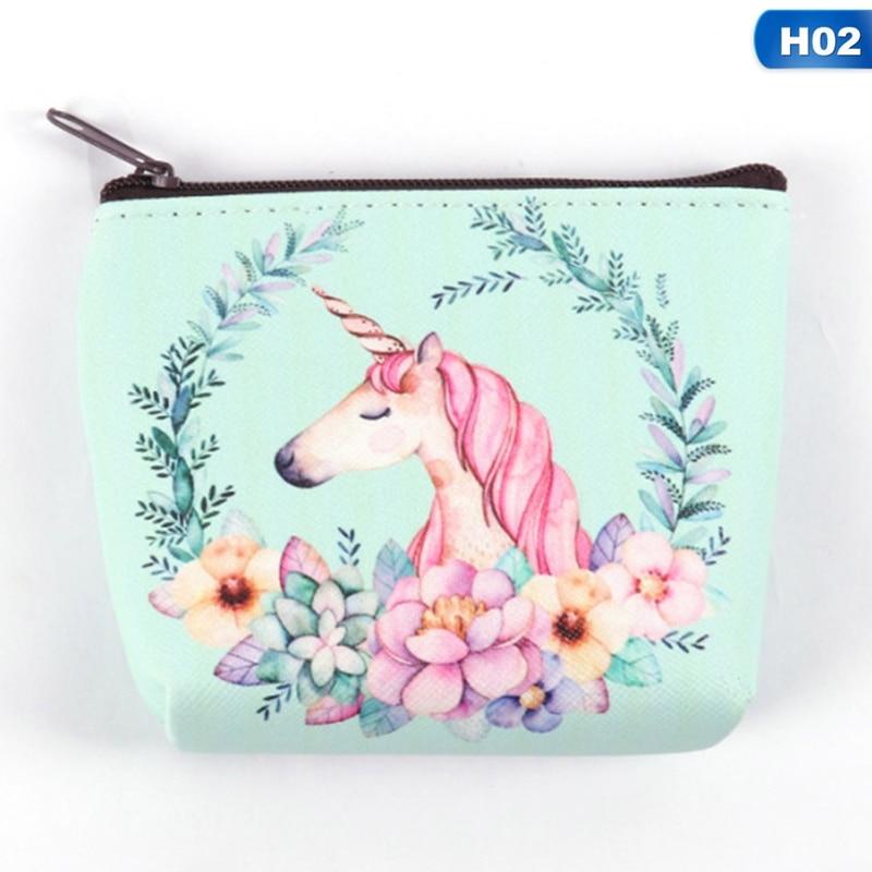 Hot Sale Cartoon Unicorn Coin Purses Holder Cute Animal Mini Children Wallets Coin Girl Kids Simple Women Bag Money Bag Gift Zipper Pouch Coin Purses & Holders Coin Purses