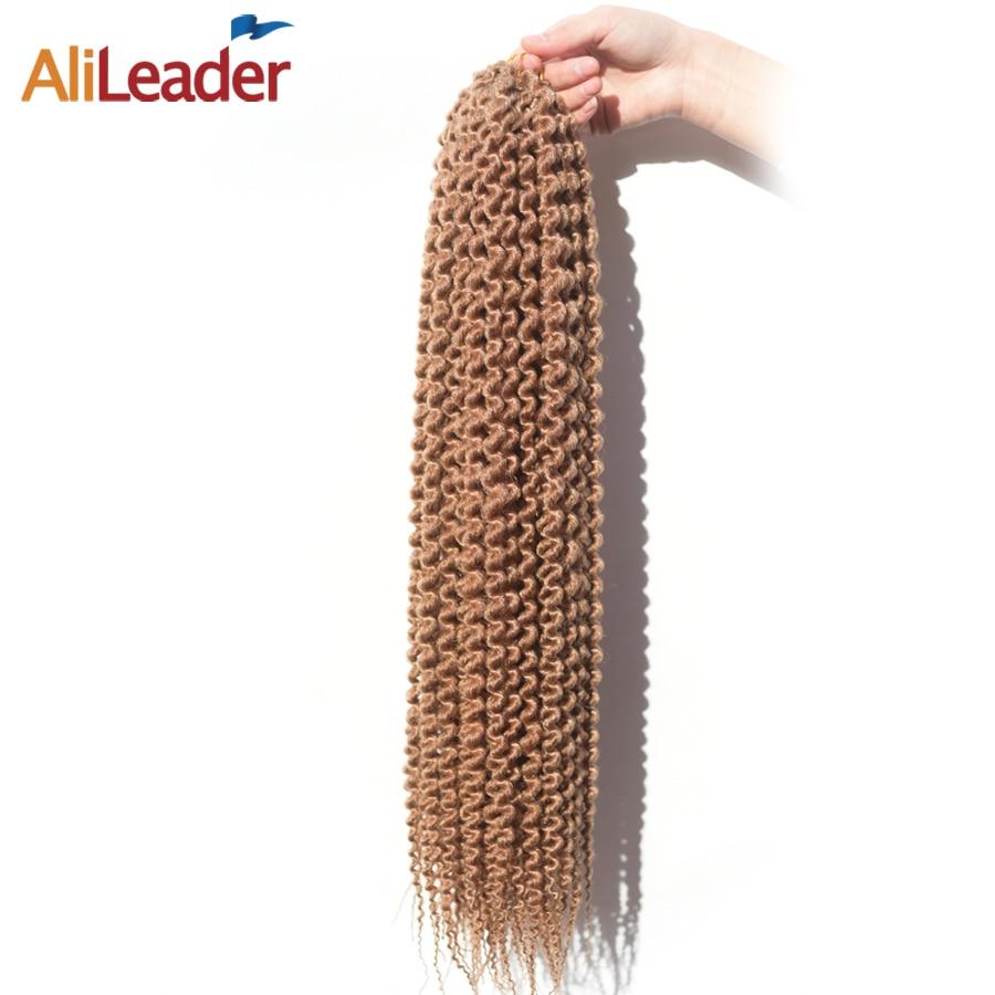 "AliLeader Honey Blonde Freetress Crochet Braids Hair Extensions 12"" 18"" 22"" 12 Strands Crochet Kanekalon Synthetic Braiding Hair"
