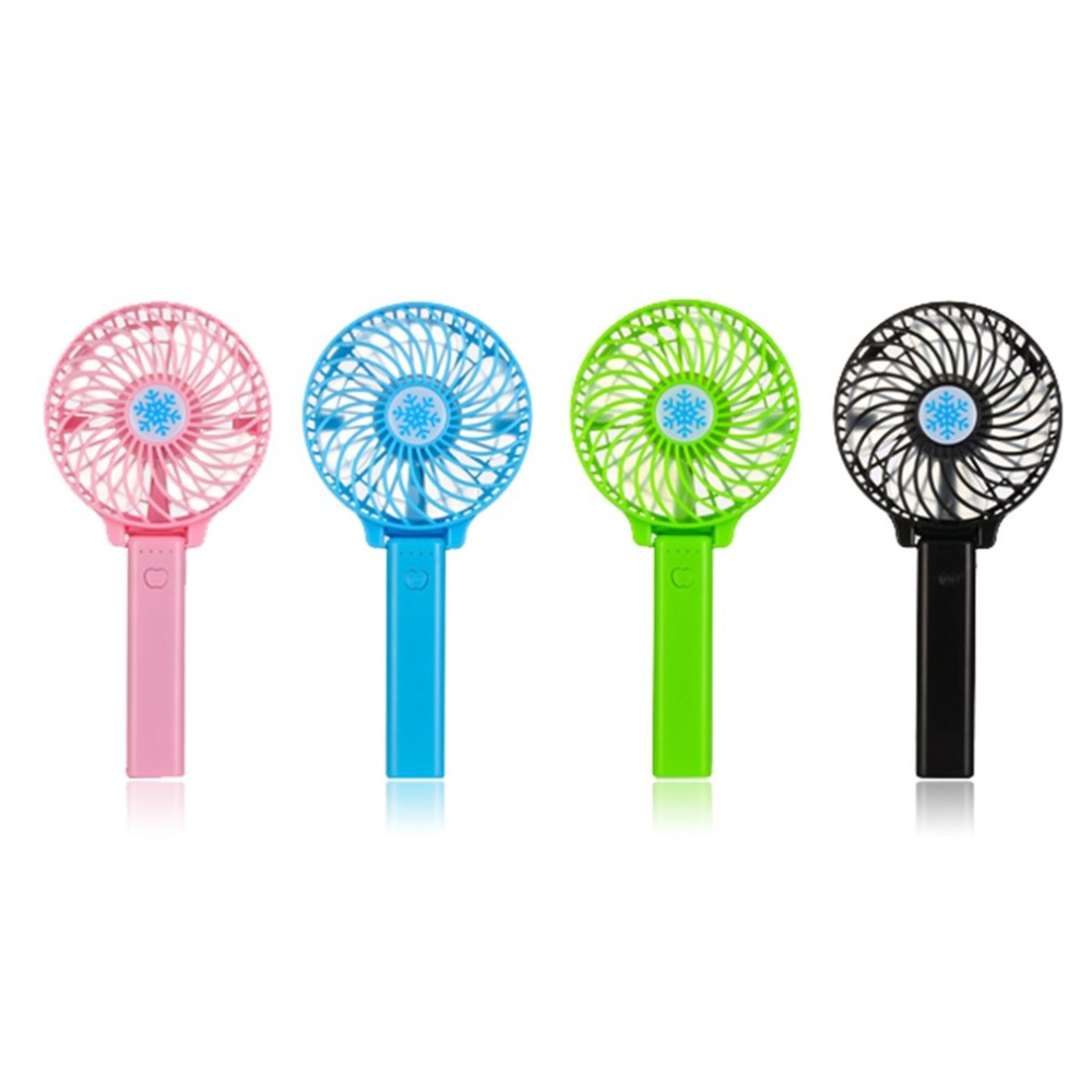 2018Portable HandFan USB Rechargeable Foldable Handheld Mini Fan Cooler 3 Speed Adjustable Cooling Fan Outdoor Travel Air Cooler