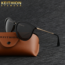 KEITHION Retro Brand Men's Mirror Sunglasses Polarized Lens Vintage Eyewear Driving Sun Glasses For Men UV400