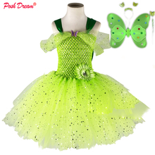 Girls Cosplay Costume Bell Thinker Dresses Children Clothes Party Kids POSH DREAM