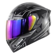New Arrival Double Lens Motorcycle Helmet Flip UP Modular Motorbike Street Helmets Casco Casque Soman 955 Color Visor