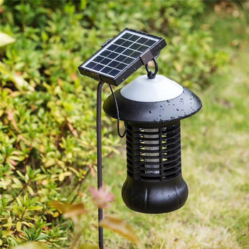 Solar Insect Zapper Mosquito Killer Bug Trap Electric Pest Fly Catcher Terminator UV Lighting Lamp Led Catalyst