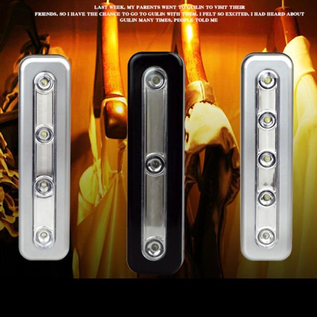 mini draadloze muur light kast lamp 5 led nachtlampje batterij home verlichting voor onder keukenkastjes p20