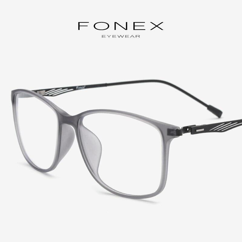 7440ac488b TR90 Optical Eyeglasses Frame Men Full Square Myopia Eye Glass Prescription  Glasses Frames Women Korean Screwless Eyewear 9854