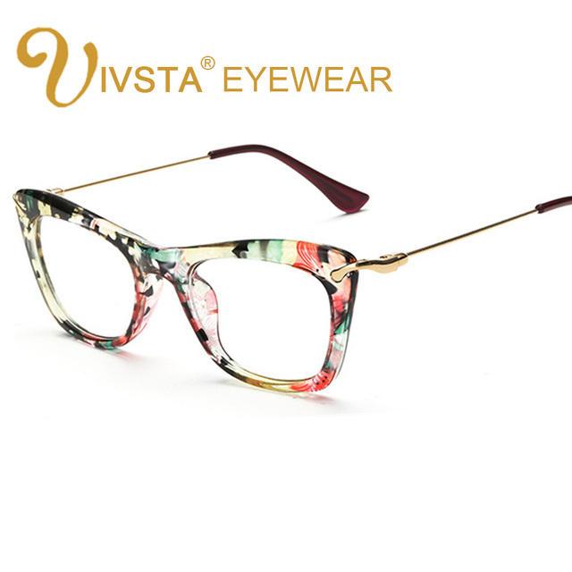 7432c258c IVSTA Borboleta Mulheres Óculos Quadro Do Gato Óculos Olho de Gato Óculos  De Lentes Ópticas Óculos