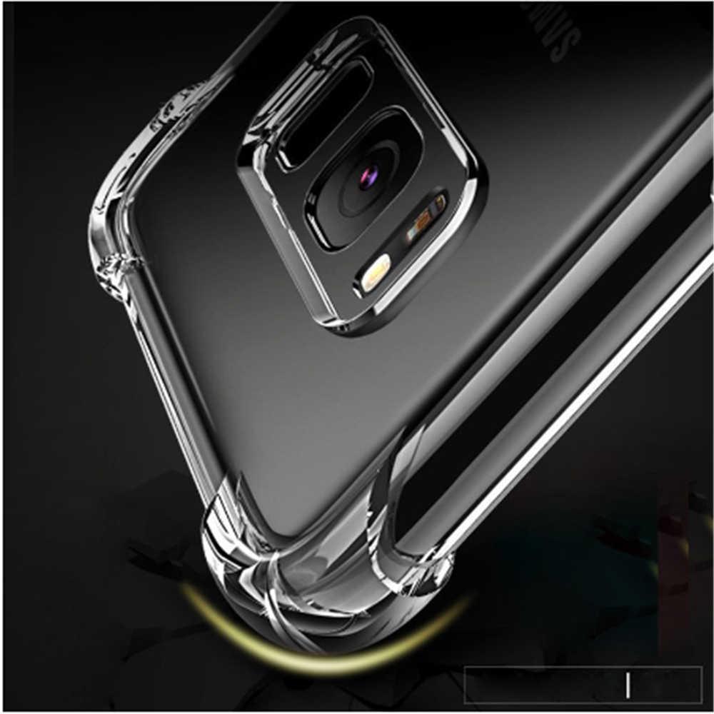 Funda a prueba de golpes para Samsung Galaxy A70, A50, A10, A20, A30, A40, funda protectora de silicona blanda transparente para Samsung S6, S7 edge, S8, S9, S10 plus