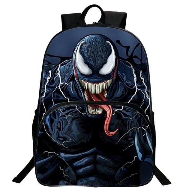 5ec1a92f10d2fc Marvel Venom Backpack Student Bag Hero Children's Backpack Avengers Men's  Bag