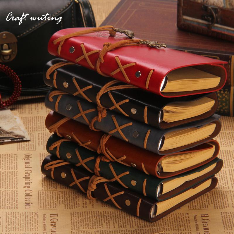 craft leather cover Retro TPersonality Notebooks Journal Planner Notepads Organizer Ring Binder Diary Notebook Gift HOT