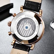 Business High quality watch luxury Tourbillon Watch Business Leather Stainless Steel  Watches