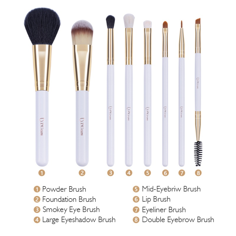 DUcare 8 Single Head Refreshing Suit Combination Foundation Blush Concealer Eyses Shadow Brush Beginner Makeup Tools