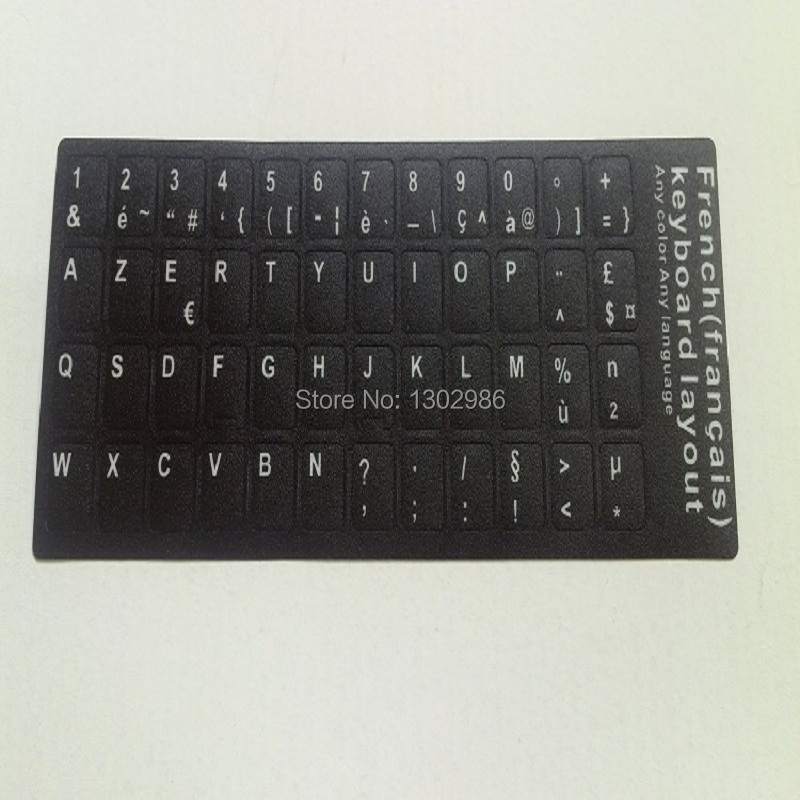 50pcs French Letters Alphabet Learning Keyboard Layout Sticker For Laptop Desktop Computer Keyboard 10 inch Or