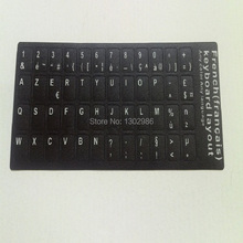 50pcs French Letters Alphabet Learning Keyboard Layout Sticker For Laptop/Desktop Computer Keyboard 10 inch Or Above Tablet PC