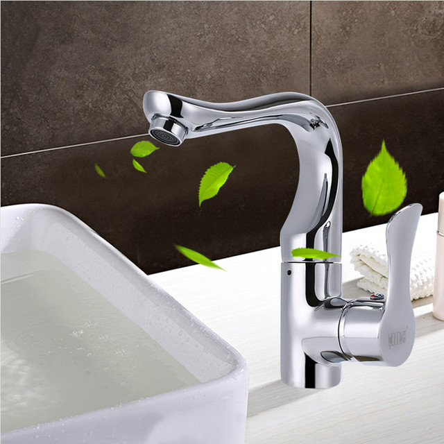 Jooe Modern Brass Chrome Bathroom Faucet Hot And Cold Mixer Water