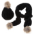 2 unids Pompón De Piel Sintética de Invierno de Las Mujeres Calientes de Punto Sombrero de La Bufanda Del Ganchillo Beanie Hat Cap niños Del Bebé de La Bufanda + Sombrero Sombrerería Mujeres Accesorias