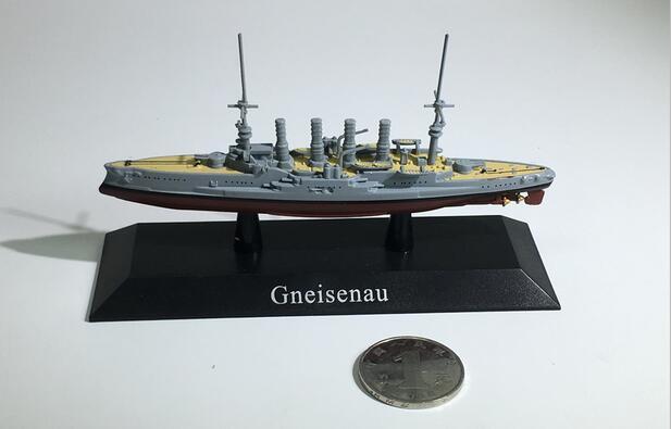 1:1250 the German Navy Battlecruiser gneisenau Alloy warship model Collection model