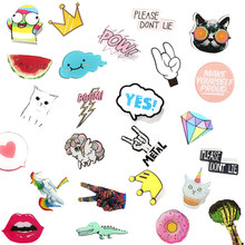 1 PC Icons on The Backpack Acrylic Badges Jeans Decoration Badge for Clothes Kawaii Pin Brooch(China)