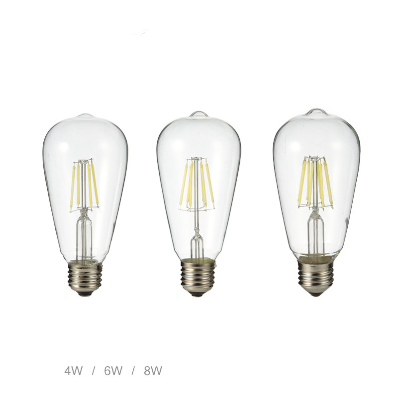 Vintage Edison led bulb E27 4W 6W 8W AC220V 110V transparent clear Glass shell Retro LED Filament light european candelabra edison screw base e14 4 watt 4w dimmable g45 amber glass retro led filament small globe light bulb g14 e12