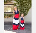2017 Summer New Mother Mom and Daughter Dress Clothes Family Matching Outfits Beach Dress Girls & Women Dress Free Shopping