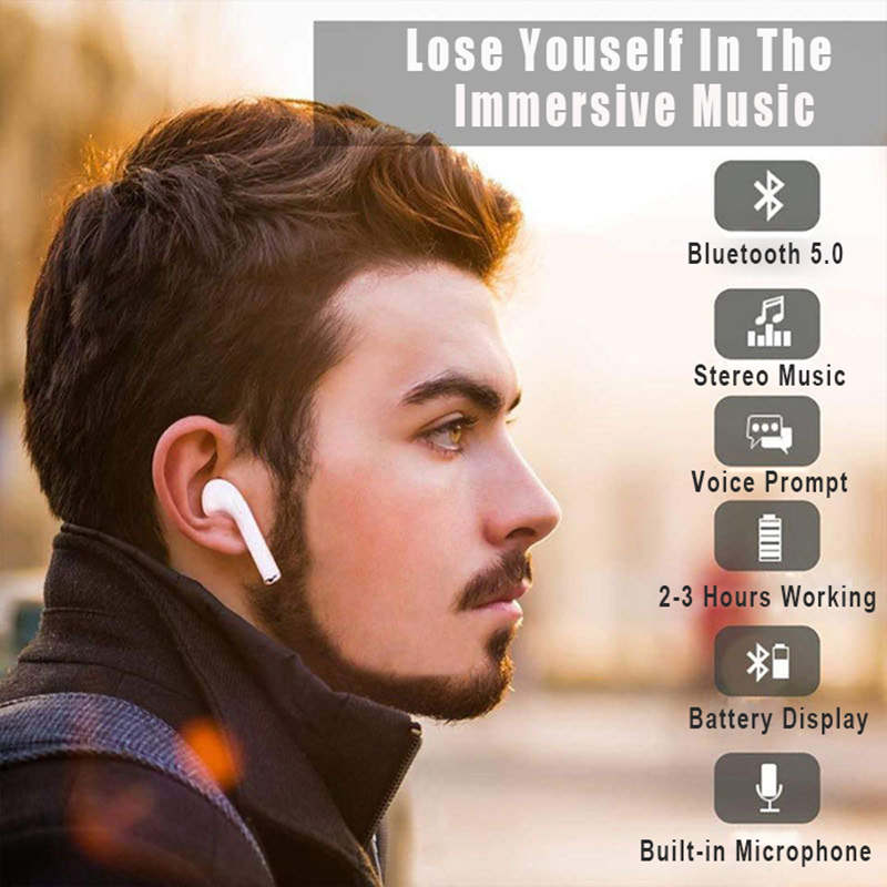 New i9S TWS Mini Bluetooth Earphones Wireless Headphones Headset Bluetooth 5 0 Earbuds Stereo Sports with Mic PK i7S i10 i11 i12 in Bluetooth Earphones Headphones from Consumer Electronics