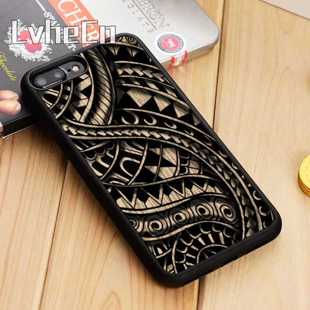 57f56a4df LvheCn Maori polynesian samoan tribal vtg tattoo Phone Case Cover For  iPhone 5 5s SE 5C