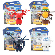Super Wings Mini Airplane ABS Robot toys Action Figures Super Wing Transformation Jet Animation Children Kids Gift Brinquedos 2018 high quality super wings control centre with planes action figures transformation toys for children birthday gifts