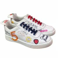 loafers women flat shoes 2019 spring casual shoes for women Graffiti Luxury brand CC shoes Comfortable Breathable size 34 40