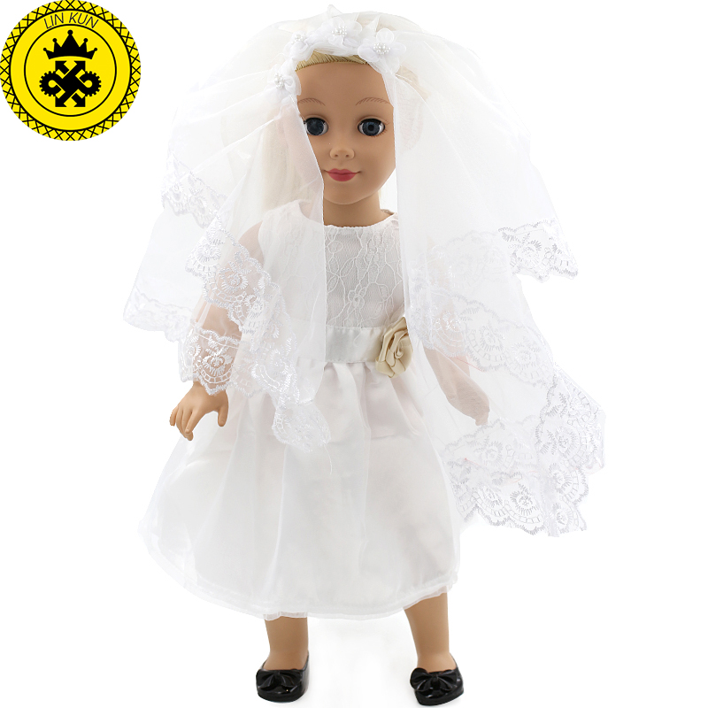 18 inch American Girl Doll Clothes White Wedding Christmas Gift and Birthday Fashion Clothes Set MG-019