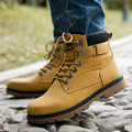 Fashion Autumn Men Ankle Boots Outdoor Shoes Leather Work Boots Bota Masculina Casual Martin Boots Retro Shoes For Mens NSX58