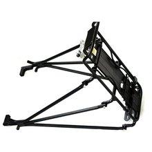 Buen negocio Ciclismo MTB Aleación de Aluminio Portabicicletas Trasero Portaequipajes Estante Soporte para Disco de Freno/v-brake bicicleta Negro