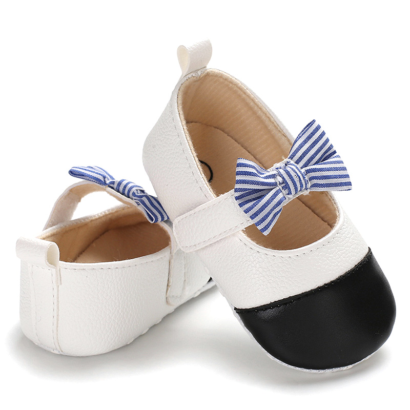 Baby Shoes Bowknot Decor Shoes Baby Girls First Walker Casual Crib Shoes Soft Bottom Sole Shoes
