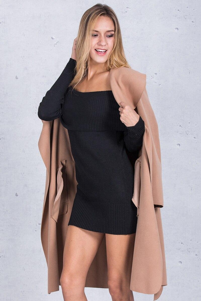 Simplee Black ruffle warm winter coat Women turndown long coat collar overcoat female Casual autumn 16 pink outerwear 8