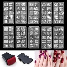 Nail art stamper stamping plates kit DIY Nail Art Decorations Polish Stamp Stamper Template Plastic Nail Art Tools