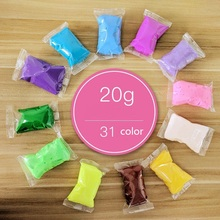 31 colors 3D Fluffy Foam Clay Slime DIY Soft Cotton Ball Education Craft Toy Antistress Kids Toys for Children
