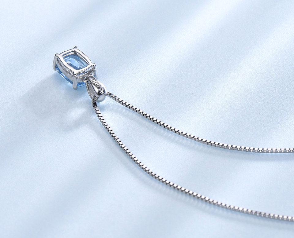 Honyy Sky blue topaz silver sterling jewelry sets for women EUJ054B-1-pc (8)