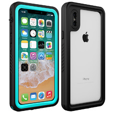 IP68 Waterproof case For iPhone X Shock Dirt Snow Proof Protection With Touch ID for iPhone X Xs Case Cover Skin 5.8 inch for iphone xs max ip68 waterproof case water shock dirt snow proof protection for iphone xs with touch id case cover