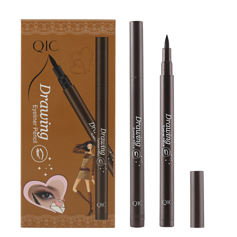QIC new pieces Style Black Long-lasting Waterproof Eyeliner Liquid Eye Liner Pen Pencil Makeup Cosmetic Beauty Tool Wholesale