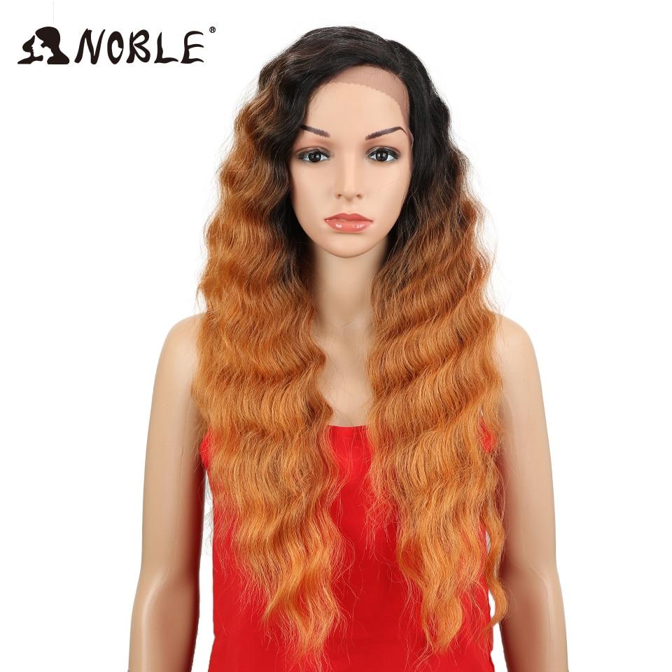 Noble Deep Wave Syntetisk Spets Fram Paryk För Kvinnor Ombre Mörka - Syntetiskt hår