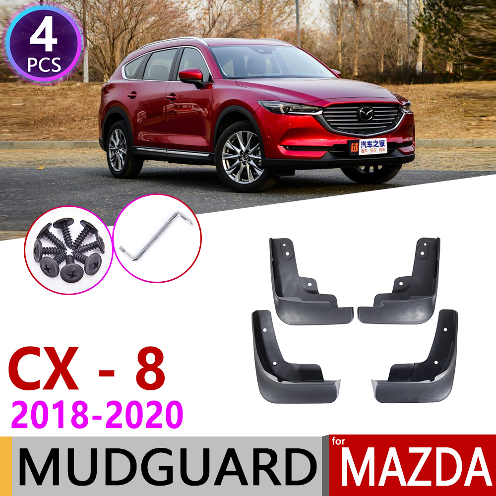 4 PCS Front Rear Car Mudflap for Mazda <font><b>CX</b></font>-8 <font><b>2018</b></font> 2019 2020 <font><b>CX</b></font> 8 CX8 Fender Mud Flaps Guard Splash Flap Mudguards Accessories image