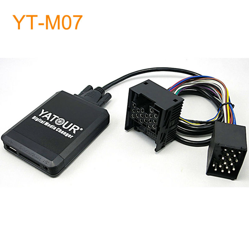 Yatour Car MP3 USB SD CD Changer for iPod AUX with Optional Bluetooth for BMW E36 E46 E39 E38 X3 X5 Z3 Z8 K1200LT for MINI R5x yatour car adapter aux mp3 sd usb music cd changer cdc connector for nissan 350z 2003 2011 head unit radios