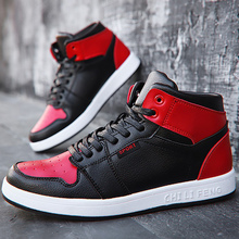 Men's vulcanize shoes spring/autumn fashion high-top sneakers for students large size 38-45 damping non-slip male shoes