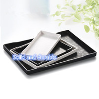 Tray Melamine Tray European Style Pallet Black And White Rectangular Wood Anti Skid Tray