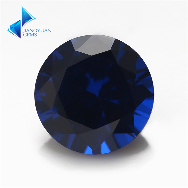Size 3mm~12mm Round Brilliant Cut 114# Synthetic Spinel Blue Stone For Jewelry DIY